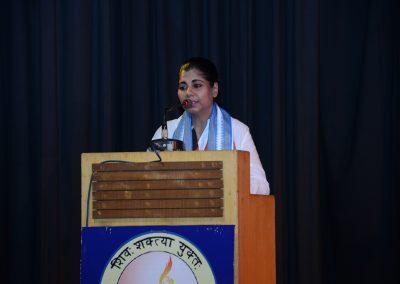 Bharati Ghosh Former IPS Delivering her speech