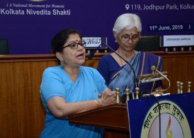 Reeta Bhattacharya Delivering her speech